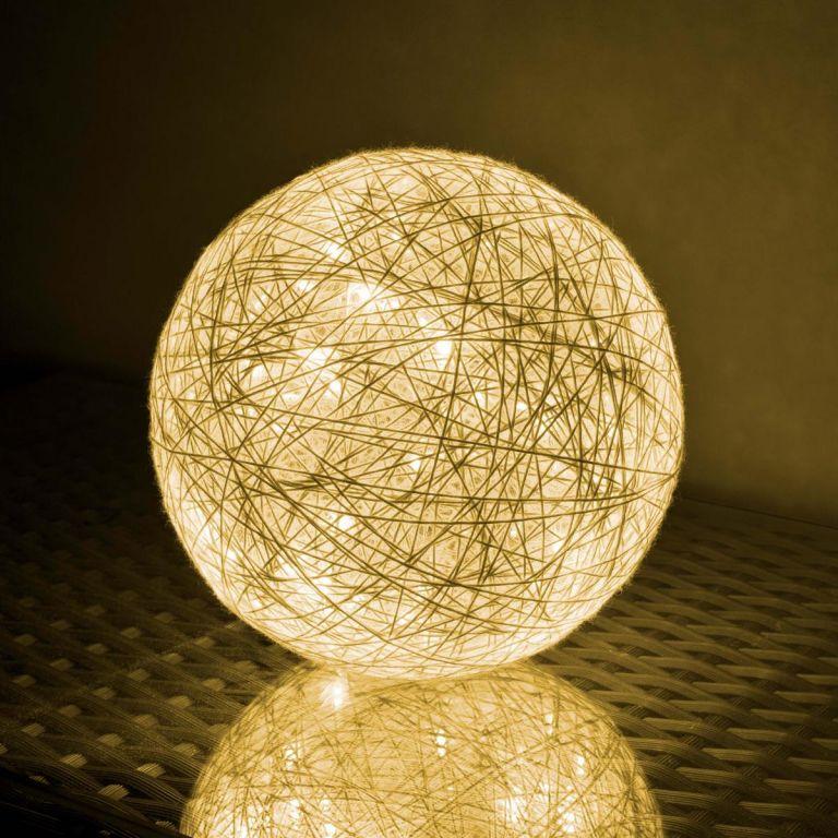 Svítící koule - 40 LED, teple bílá