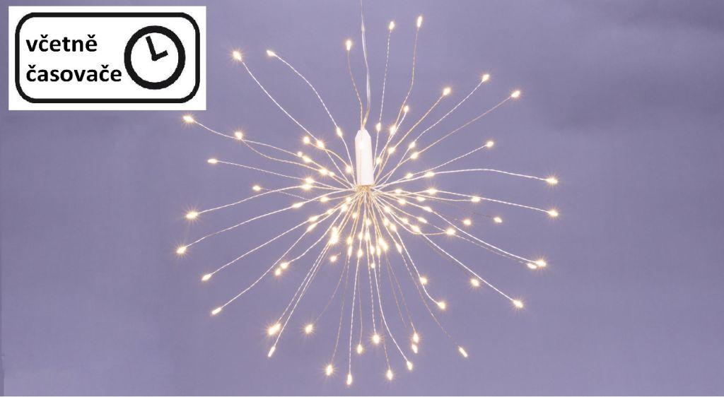 Vánoční osvětlení meteorický déšť – 100 LED, teplá bílá
