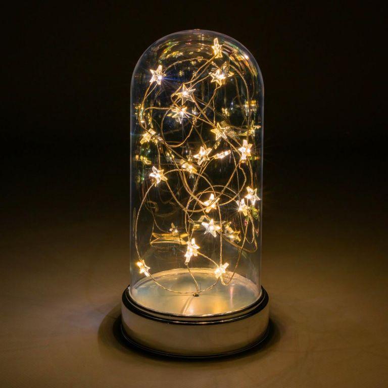 Vánoční svítící dekorace kopule – 20 LED, teple bílá