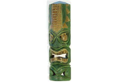 Dřevěná maska zelená 50 cm