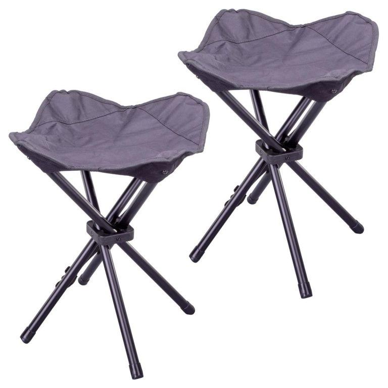 Kempinková stolička třínožka – 2 kusy