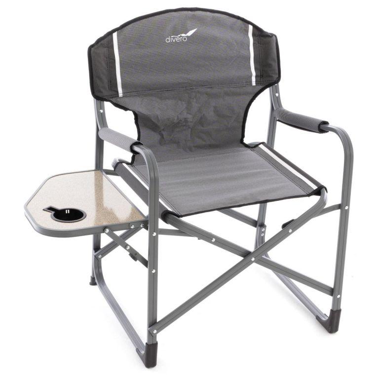 Kempinková rozkládací židle se stolkem a držákem - 2 kusy