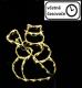 Vánoční dekorace na okno - 50 LED, sněhulák