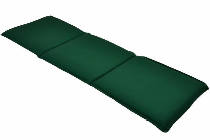 Třímístné polstrování na zahradní lavici - zelené