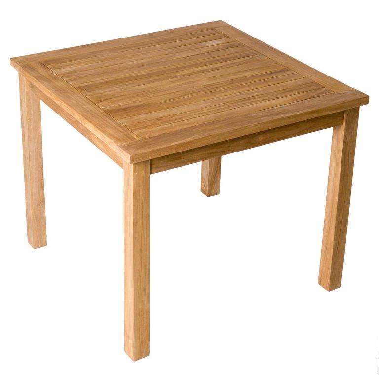 Divero zahradní dřevěný stůl, 90 x 90 x 75 cm