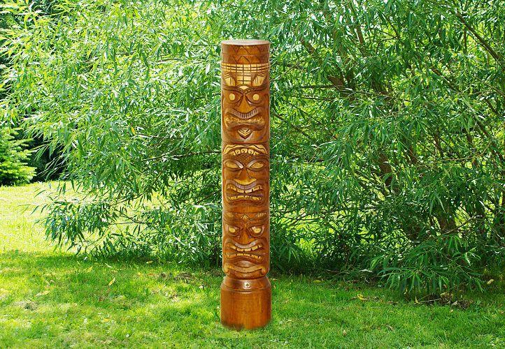 Ghana Dřevěný sloup totem hnědý