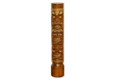 Ghana Dřevěný sloup totem hnědý 100 cm