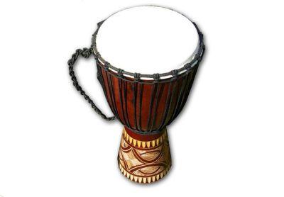 Africký buben Djembe, 60 cm - ručně řezaný