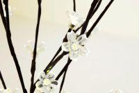 Garthen Zahradní květinový strom s 36 LED diodami a solárním panelem teple bílé LED diody