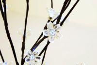 Garthen Zahradní květinový strom s 36 LED diodami a solárním panelem bílé LED diody