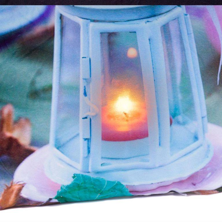 Dekorativní polštář s LED osvětlením Lucerna - 38 x 38 cm