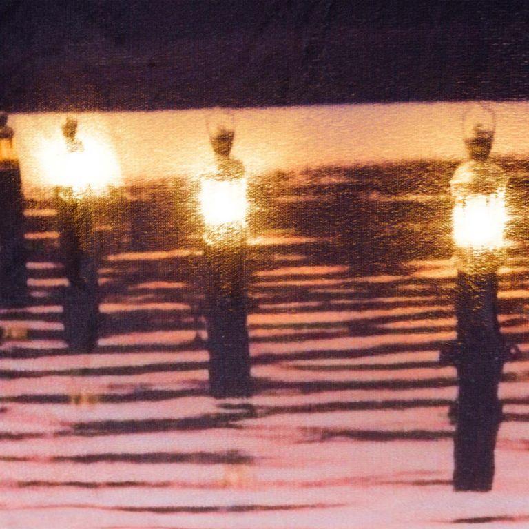 Dekorativní polštář s LED osvětlením Soumrak - 38 x 38 cm