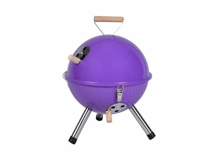 Zahradní mini gril kulatý fialový