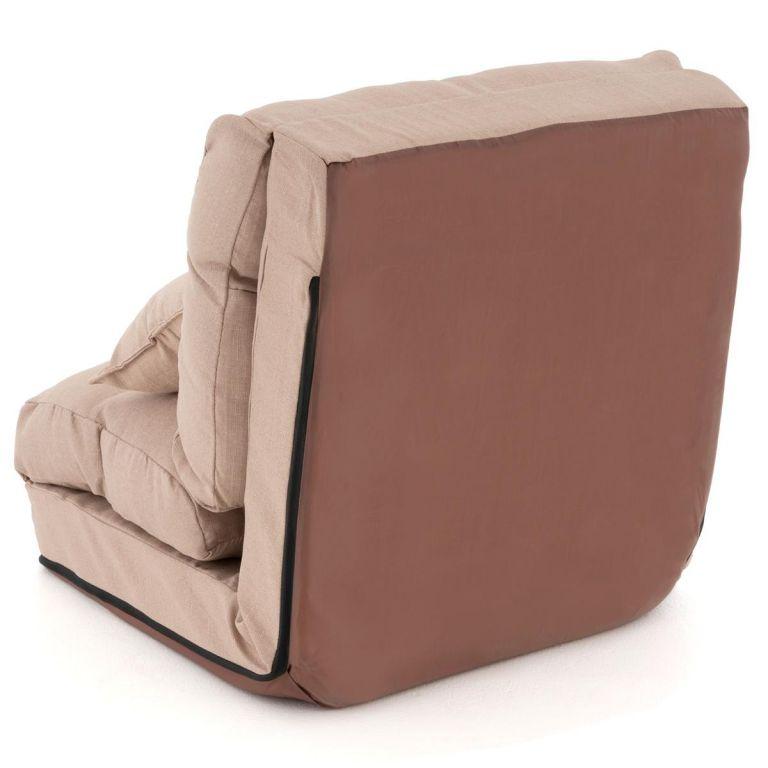 Nastavitelné spací křeslo, barva béžová