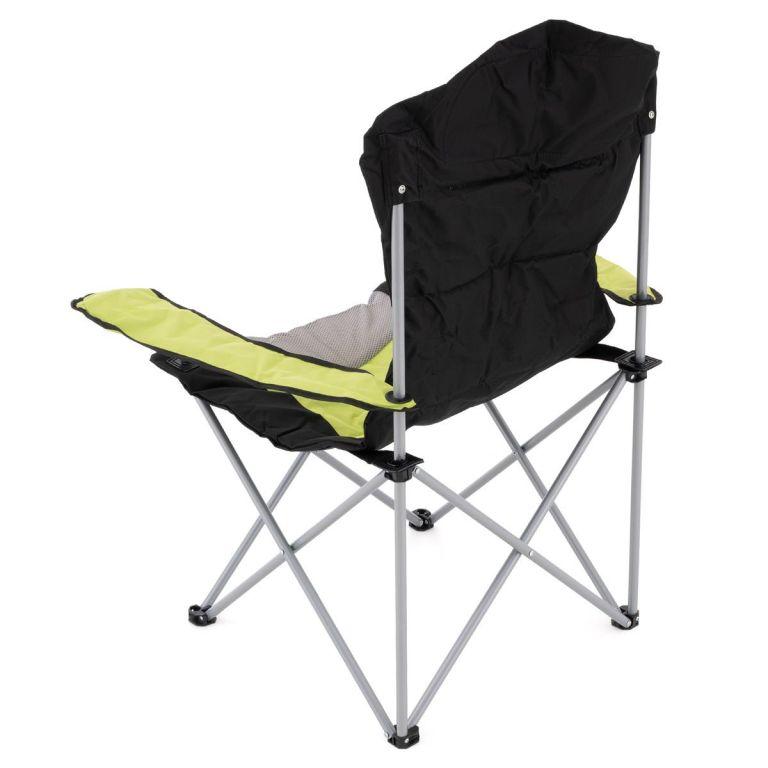 Sada 2 skládacích kempingových židlí – zelené
