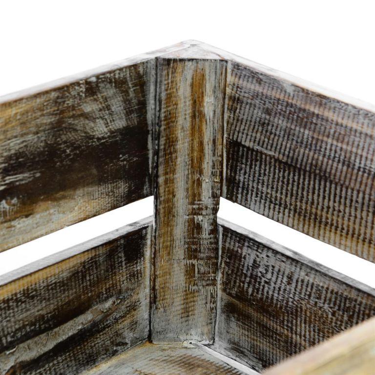 Dřevěná bedýnka VINTAGE DIVERO hnědá – 42 cm x 23 cm