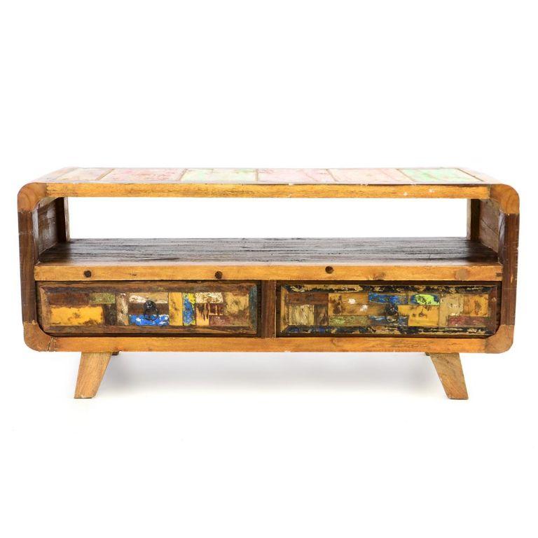 DIVERO skříňka z recyklovaného lodního dřeva
