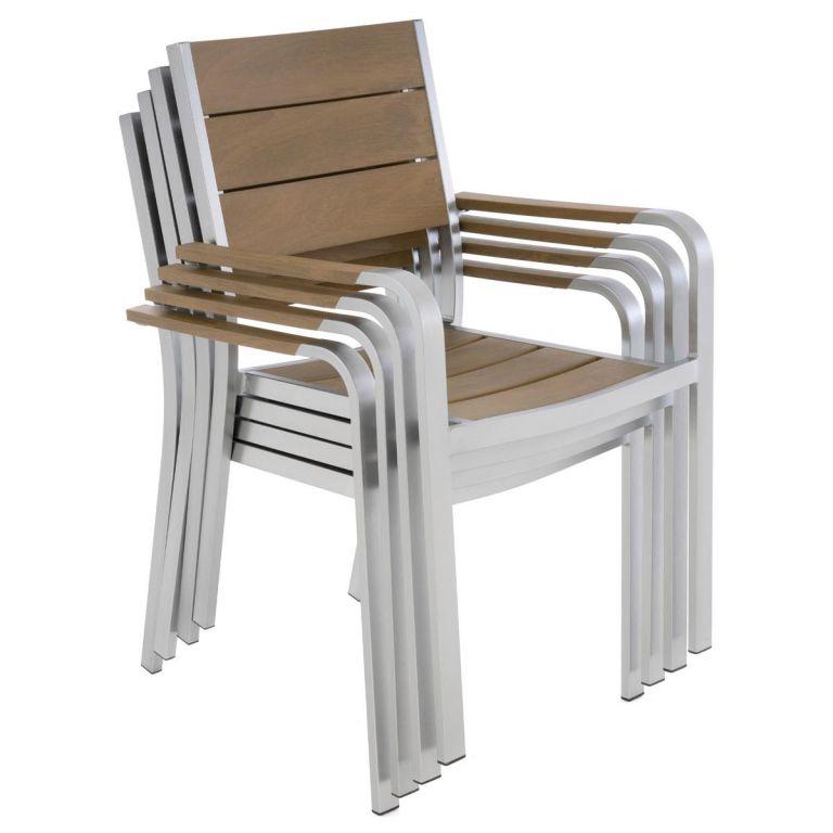 Zahradní stohovatelná židle s opěrkami