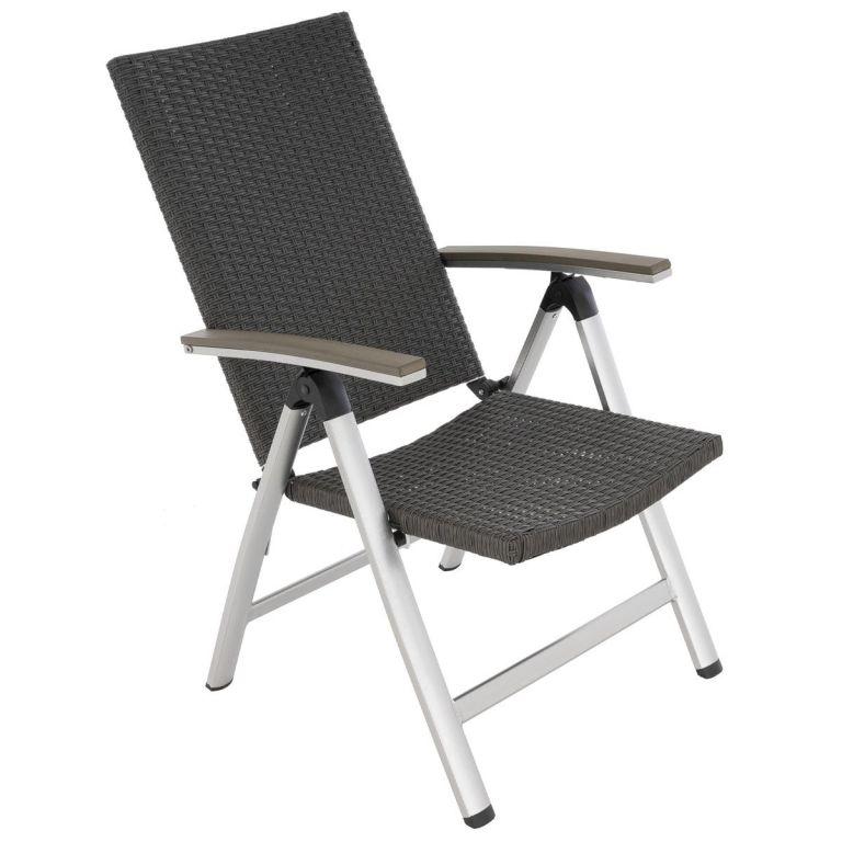 Sada 2 ks zahradních sklopných židlí – černé