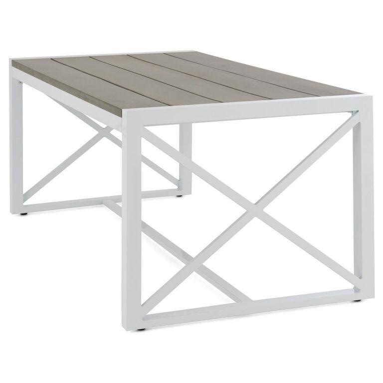 Zahradní hliníkový stůl - 160 x 92 x 73 cm