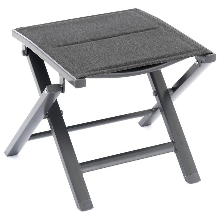 Sklopná hliníková stolička, tmavě šedý rám