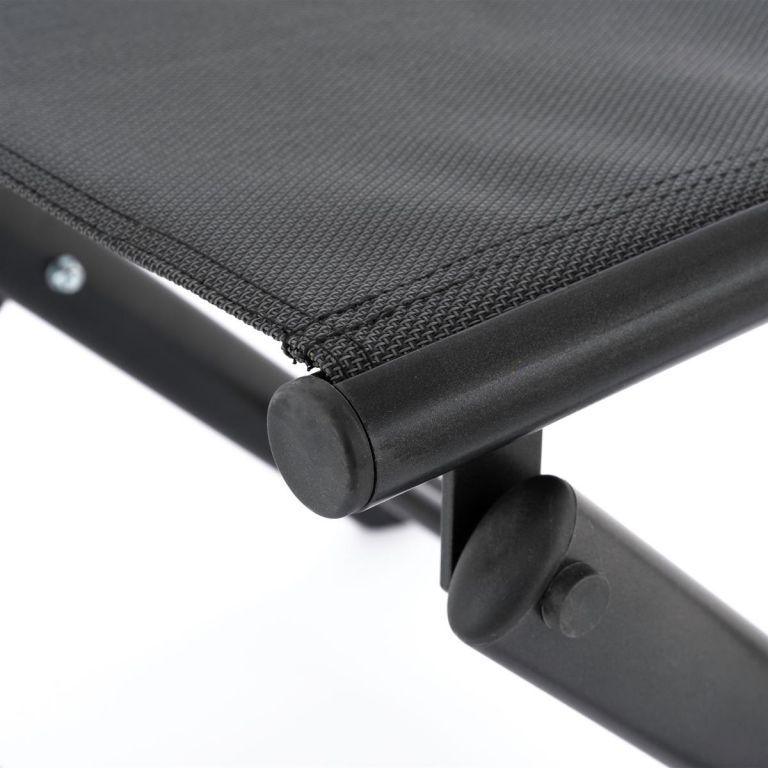 Sklopná hliníková stolička, černá