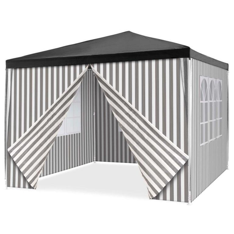 Zahradní stan + 4 bočnice – 3 x 3 m, antracit