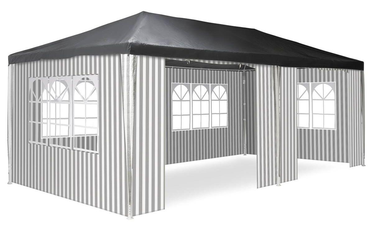Zahradní párty stan - 3 x 6 m, antracit + 6 bočnic