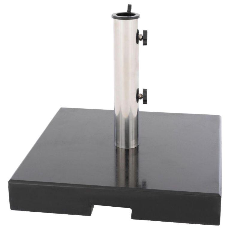 Stojan na slunečník – 33 kg, žula, redukce 40 mm a 50 mm