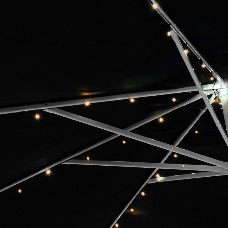 Solární řetěz pro osvětlení slunečníku - 72 LED, teplá bílá