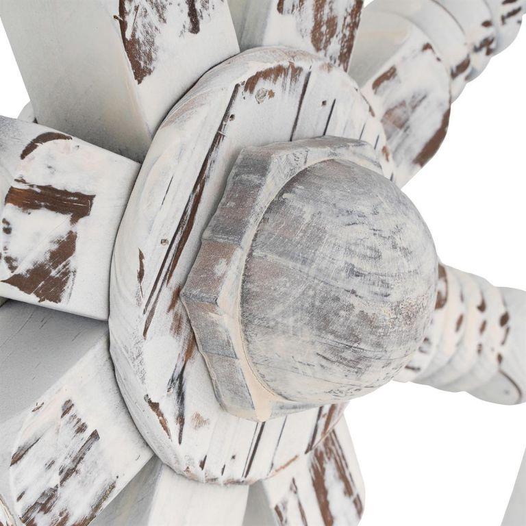 Garthen dřevěné kormidlo stylová rustikální dekorace – 60 cm