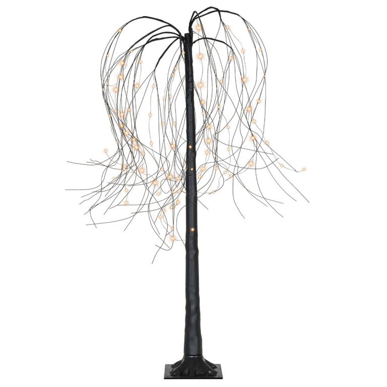 Vánoční dekorace - světelný strom - smuteční vrba, 150 cm, 96 LED