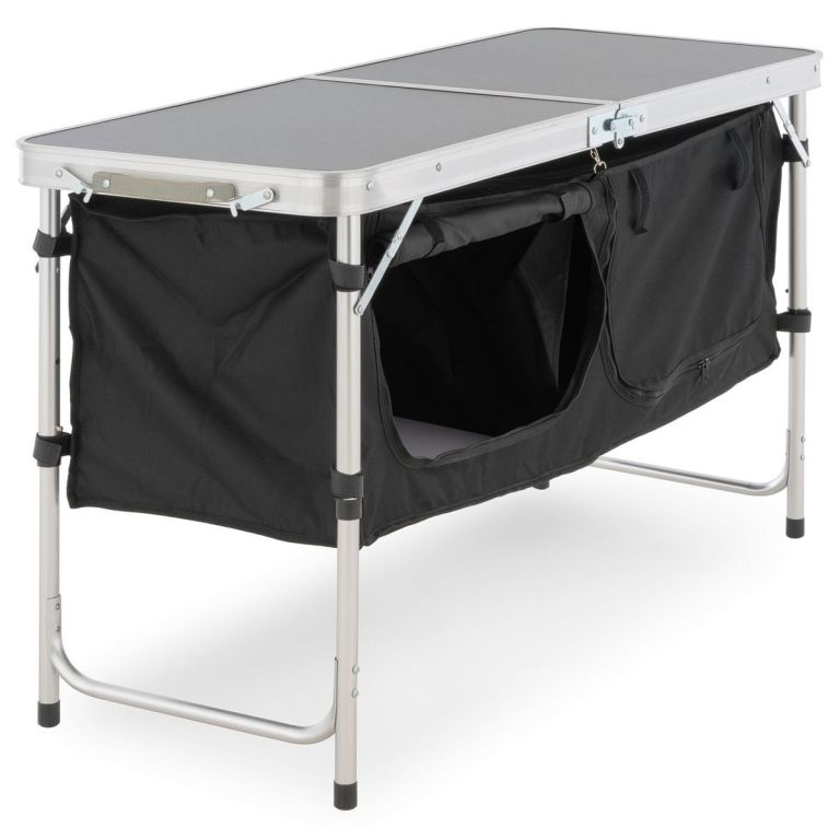 Multifunkční kempingový stůl - 2 úložné boxy, skládací