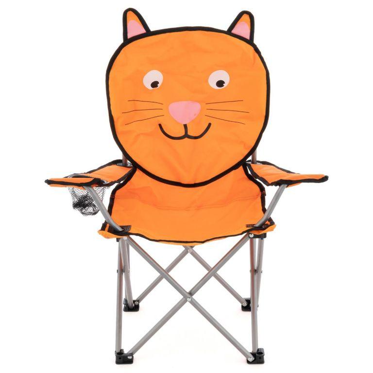 Dětská skládací kempingová židle - motiv kočka