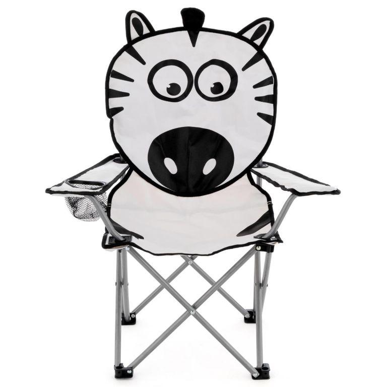 Dětská skládací kempingová židle - motiv zebra