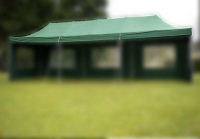 Náhradní střecha na zahradní skládací stan 3 x 9 m zelená