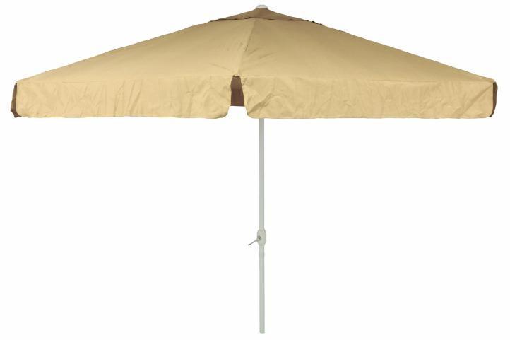 Slunečník Garth s klikou - champagne, 4 m