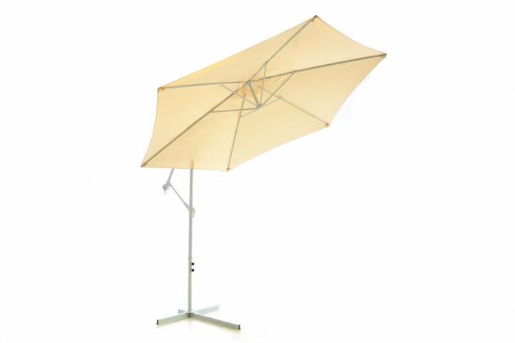 Slunečník Gardenay boční - béžový 3 m