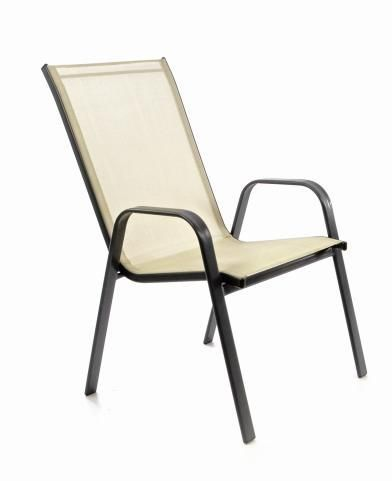 Stohovatelná židle balkonová, krémová