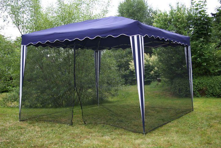 Moskytiéra na zahradní párty stan 3 x 3 m ČERNÁ