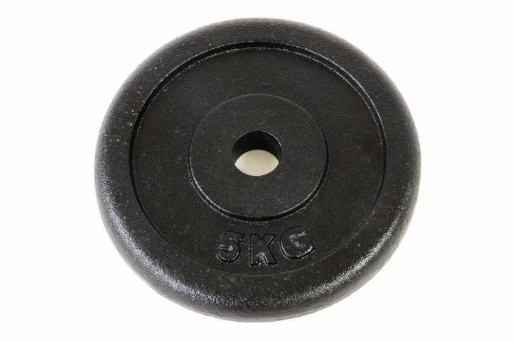 Garthen 8 Závaží na činky 5 kg černé