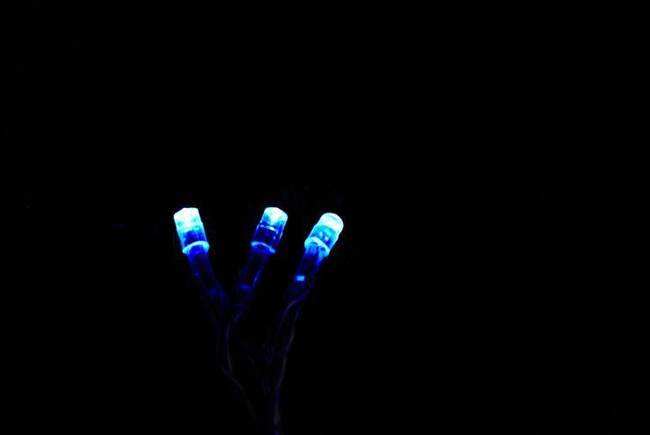Vánoční LED osvětlení Garth 3 m - modré, 20 diod