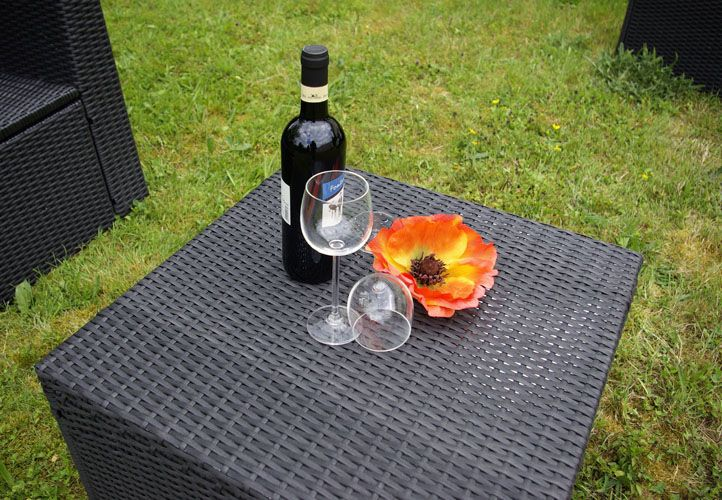 Polyratanový stolek /stolička Garth  55 x 55 x 36 cm
