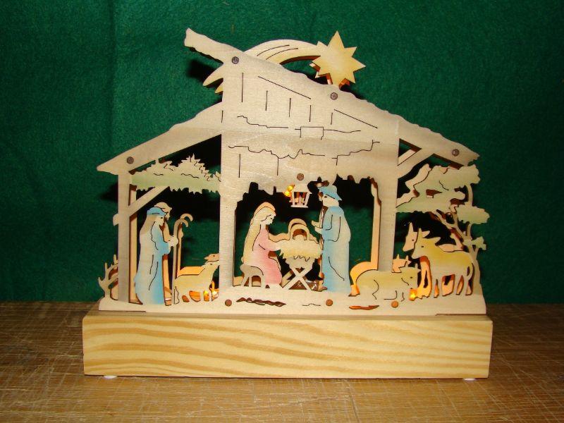 Vánoční dekorace - svítící jesličky