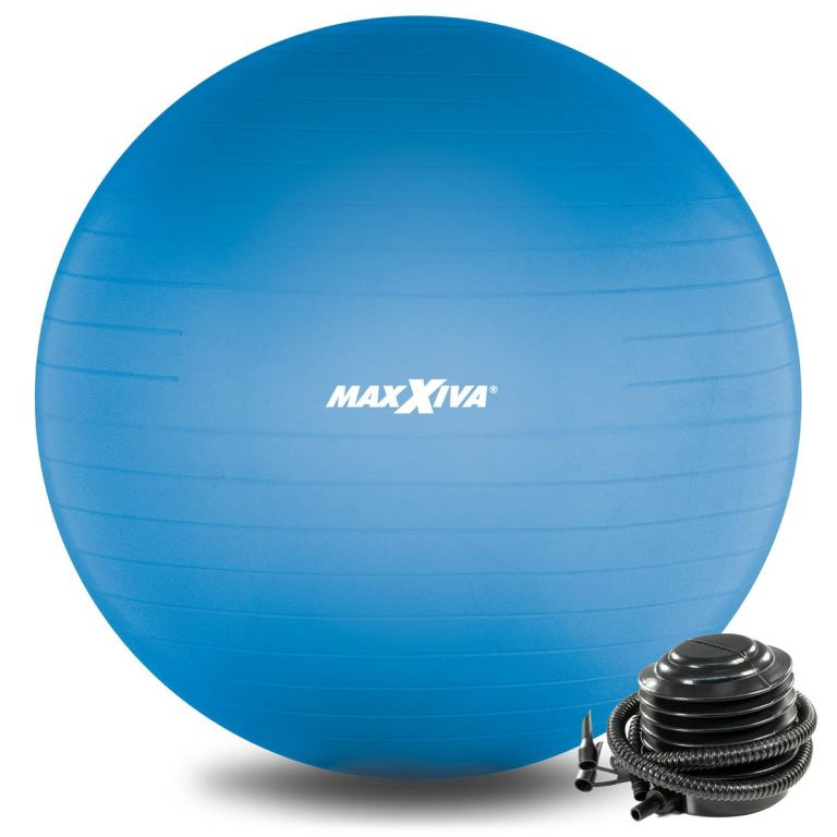 MAXXIVA Gymnastický míč Ø 75 cm s pumpičkou, modrý