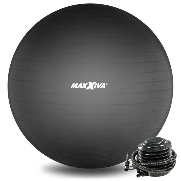 MAXXIVA Gymnastický míč Ø 65 cm s pumpičkou, černý