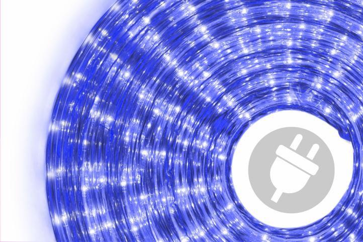 Světelný kabel - 360 minižárovek, 10 m, modrý