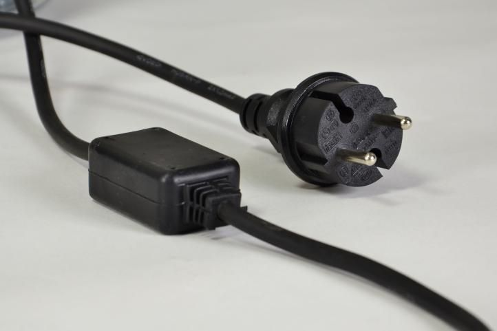 Světelný kabel 10 m - modrá, 360 minižárovek