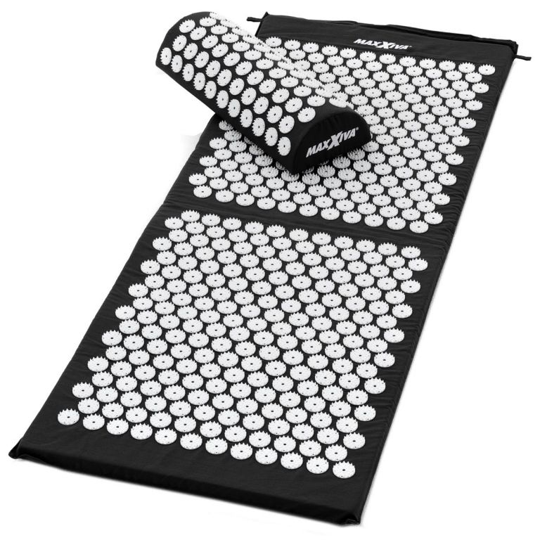 MAXXIVA Akupresurní podložka s polštářem, 130x50 cm, černá