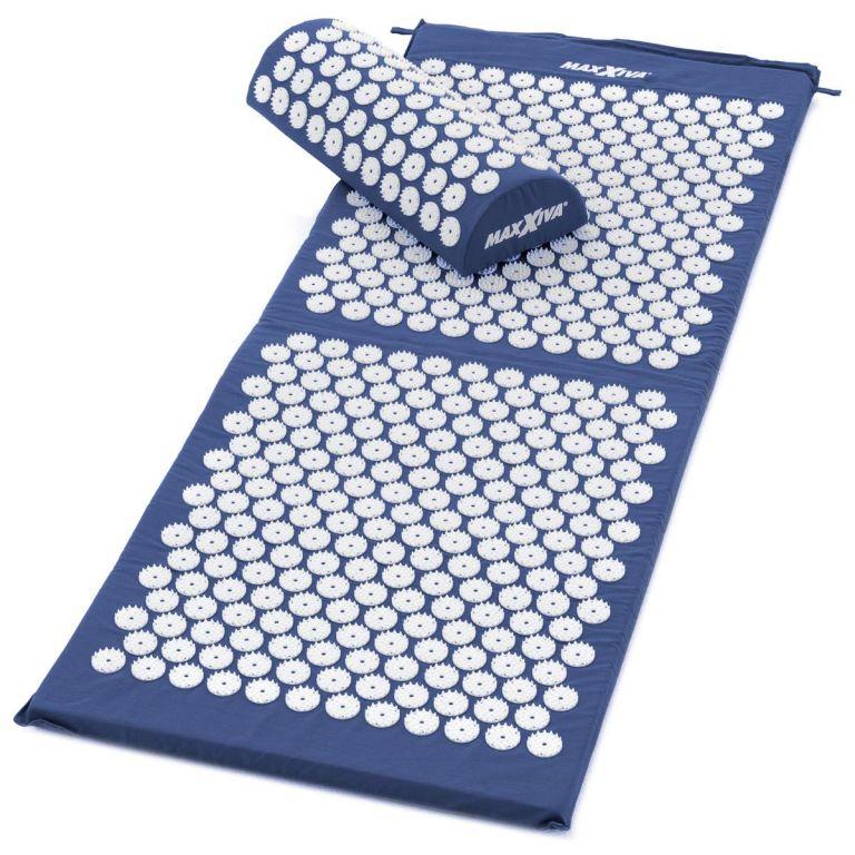 MAXXIVA Akupresurní podložka s polštářem, 130x50 cm, modrá